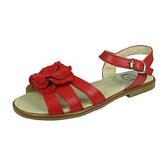 Angela Brown Kate Småbarn Flickor Läder Sandaler - Röd