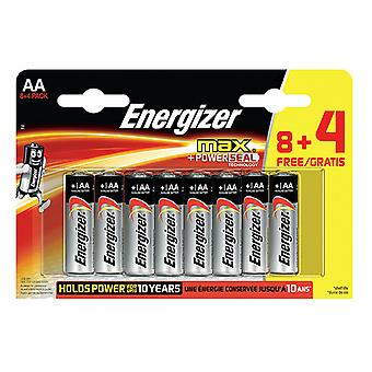 Energizer Max Power Seal AA Batteries 8+4 Pack