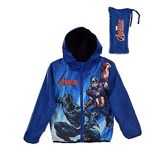 Boys HS1233 Marvel Avengers Lightweight Hooded Jacket with Bag
