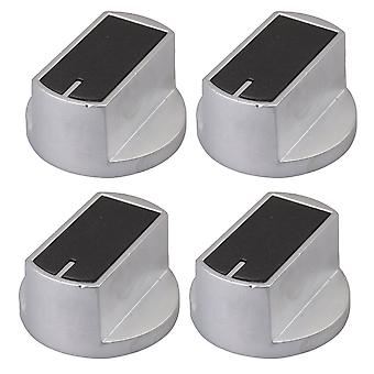 Silver 2Pair 8mm 45 Degree Metal Gas Stove Square Knob for Cooker Oven