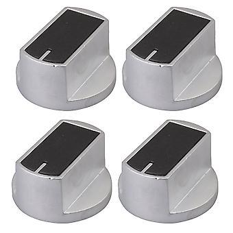 Sølv 2Pair 8mm 45 Graders Metal Gas Stove Square Knob til komfur ovn