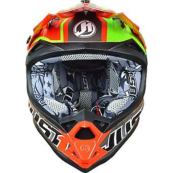 Just 1 J32 Pro Rave MX Full Face Helmet Green Red ACU Approved