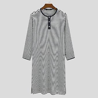 Långärmad Soft Loose Casual O Hals Bekväm morgonrock Sleepwear