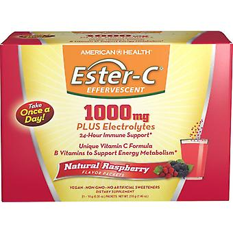 American Health Ester-C 1000 mg effervescent 21 packets Raspberry