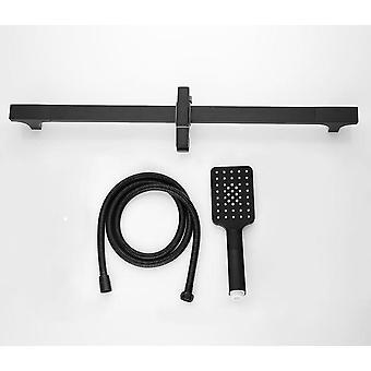 Barre coulissante noire de haute qualité de douche, mur monté