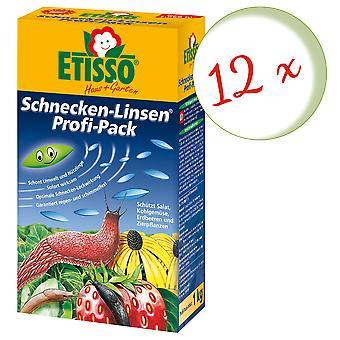 Sparset: 12 x FRUNOL DELICIA® Etisso® Schnecken-Linsen Power-Pack, 1 kg