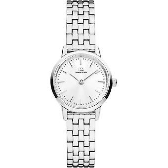 Deens design Akilia Mini Link Horloge - Zilver/Wit