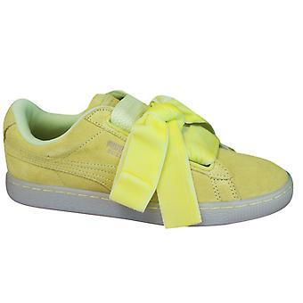 Puma velúr szív reset csipke fel sárga bőr női oktatók 363229 03 B76A