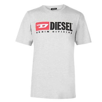 Diesel T-Diego-Division Logo Grey T-Shirt