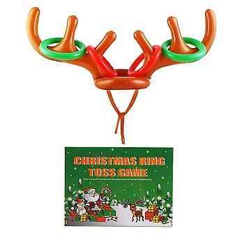 Lokipa natal inflável anel de chifre de rena jogar jogos para jogos divertidos de festa em família natal