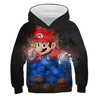 Printed Fashion 3d Print Soft Hoodie Cartoon Clothing Hooded Sweatshirt