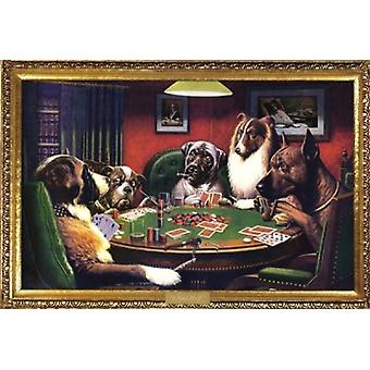 Dogs Playing Poker - Cassius Marcellus Coolidge Poster Poster Print