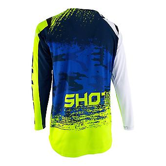 Shot Contact Counter Blue Adults MX Jersey