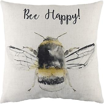 Evans Lichfield Bee Happy Cushion Cover