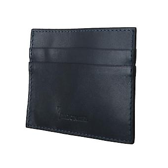 Blue leather cardholder w59618391