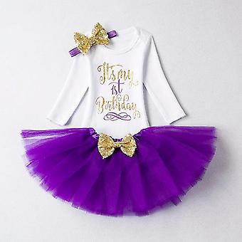 Lovely Girls Romper Skirt + Headband Outfit , Design 20