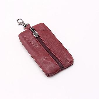 Porte-clés Leather Wallets/key Case Housekeeper Covers Zipper Bag