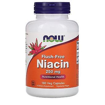 Maintenant aliments, Niacine sans chasse d'eau, 250 mg, 180 capsules de légumes
