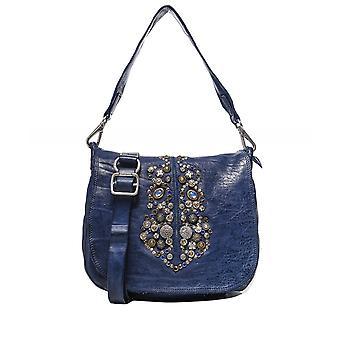 Campomaggi Embellished Leather Flap Bag