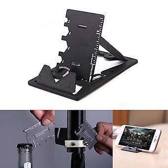 IPRee 3 In 1 EDC Mini Card Cutter Multifunctional Folding Phone Holder Bracket Bottle Opener Tool Ki