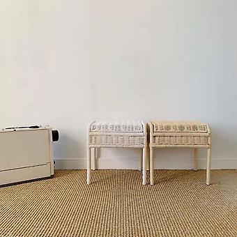 隠された貯蔵コンパートメントが付いている子供の貯蔵の便の籐の座席