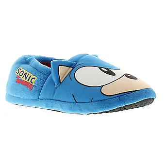 Sonic sonic boys novelty slippers blue UK Size