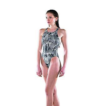 Maru Zebra Sparkle Tek Back Swim Suit - Black/White