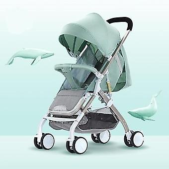 Baby Stroller Reclining Ultra-light Folding Umbrella Four-wheel Shock Absorber