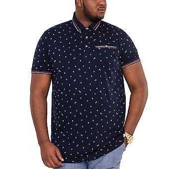 Duke D555 Mens Thames Big Tall King Size Polo Shirt T-Shirt Tee Top - Blue