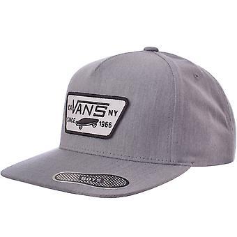 Vans Boys ילדים תיקון מלא שטוח שוליים מתכווננים סנאפבק כובע בייסבול - אפור