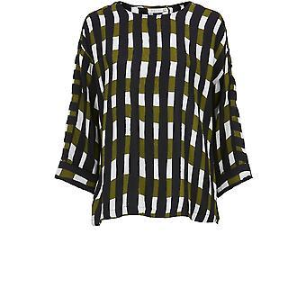 Masai Clothing Darla Check Print Top