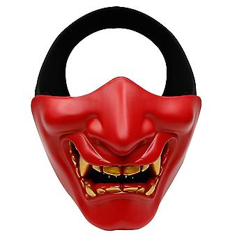 Halloween Prajna Mask Cos Horror Devil Half Face Tactical Mask Tpu Face Shield Cosplay Props