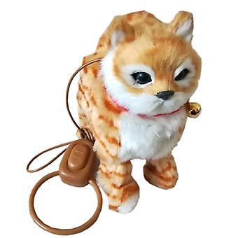 Robot Electronic Electronic Plush Pet Toy Singing Walking Mew Leash Kitten