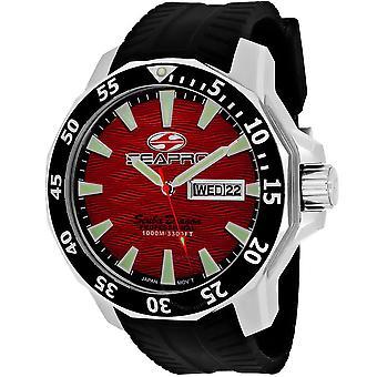 Seapro Scuba Dragon Diver Limited Edition 1000 Meters Quartz Red Dial Men's Watch SP8317