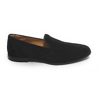 Lenny Men's Moccastine In Suede With Black Hole and Pendagli Us20el02
