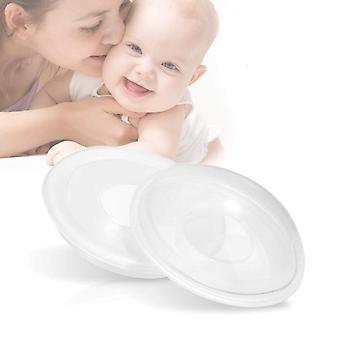 Bpa-fri flexibel silikon bärbar bröstsköld och bröstmjölk sparare