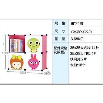 子供のキャビネット、家具プラスチック製本棚漫画ホームベビーブックカス