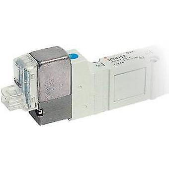 "SMC 5 Port Double Solenoid Valve 24V Dc Body Ported 1/4"" Bsp Din Connector"