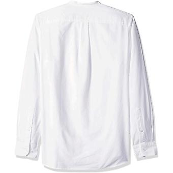 Goodthreads Men's Standard-Fit Long-Sleeve Band-Collar Oxford Camicia Oxford, -bianco, ...