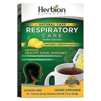 Herbion Naturals Respiratory Care Herbal Granules with Lemon Flavor – 10 Ct for the Whole Family