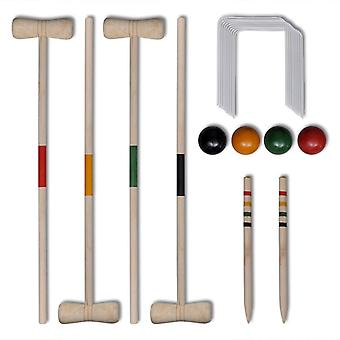 Croquet set wood for 4 people