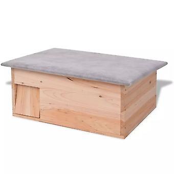 vidaXL منزل القنفذ 45x33x22 سم الخشب