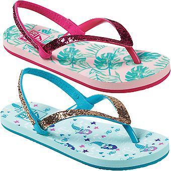 Reef Girls Little Stargazer Prints Summer Beach Pool Sandals Thongs Flip Flops