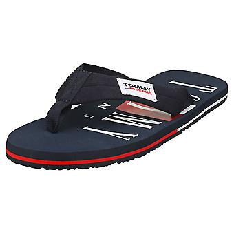 Tommy Jeans Beach Sandal Mens Beach Sandals in Twilight Navy