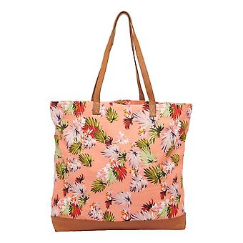 Superdry Large Printed Tote Bag - Brushed Pink Palm