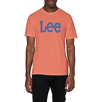 Lee Logo Tee T-Shirt, Röd (Paprika Ni), Liten Man