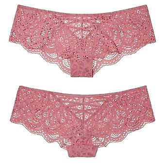 Sexiga underkläder ihåliga ut kors spets upp stringtrosor och G String Kvinnor Trosor