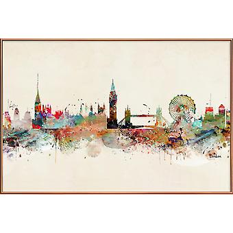 JUNIQE Print - London - London Plakat i Brown & Farverige