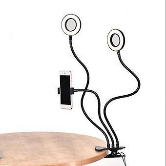 Esnek Cep Telefonu Tutucu Tembel Braket Masası ile Evrensel Selfie HalkaSı Işığı
