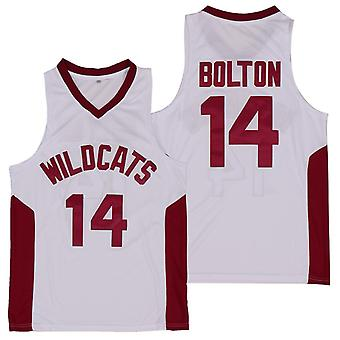 Men's Ncaa Troy Bolton 14 High School Wildcats Basketball Jersey Stitched Sports T-shirt Size S-xxl